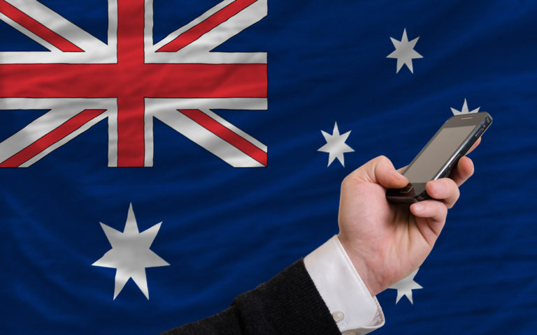 australia flag cellphone