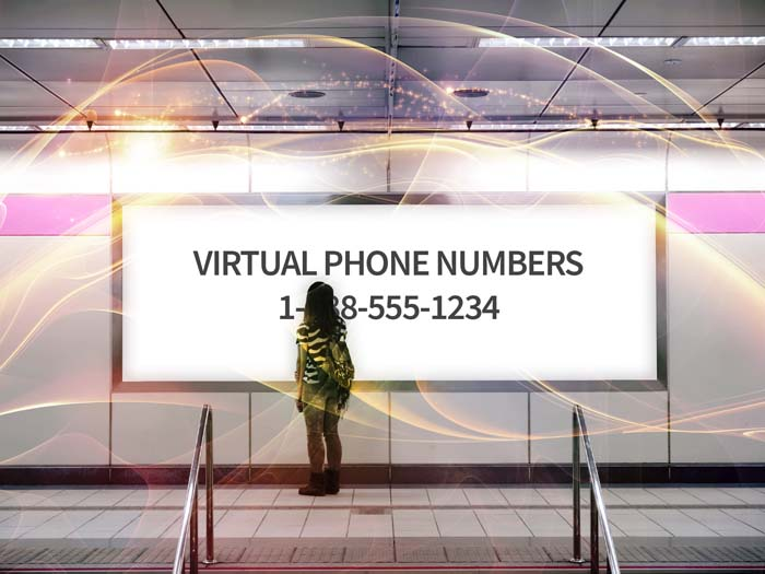 Billboards with virtual phone numbers